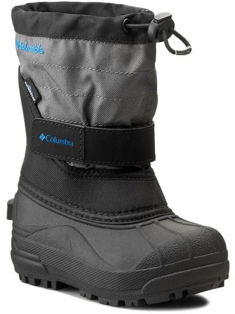 Śniegowce COLUMBIA - Childrens Powderbug Plus II BC1326 Black/Hyper Blue 010