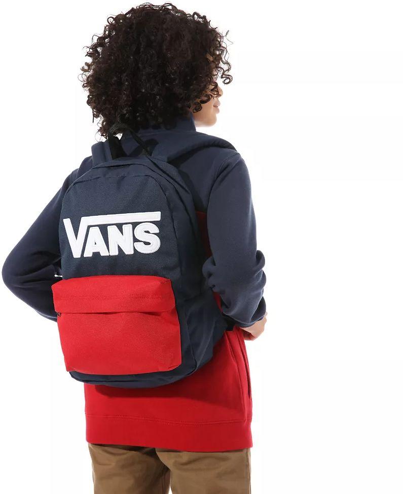 Plecak szkolny Vans New Skool - dress blues/chilli pepper