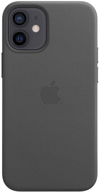 Apple Leather Case z MagSafe do iPhone 12 mini (czarny)