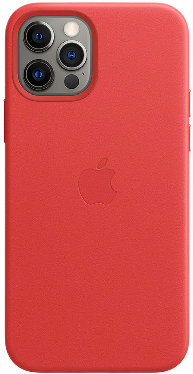 Apple Leather Case z MagSafe do iPhone 12/12 Pro (PRODUCT)RED