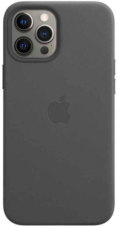 Apple Leather Case z MagSafe do iPhone 12 Pro Max (czarny)