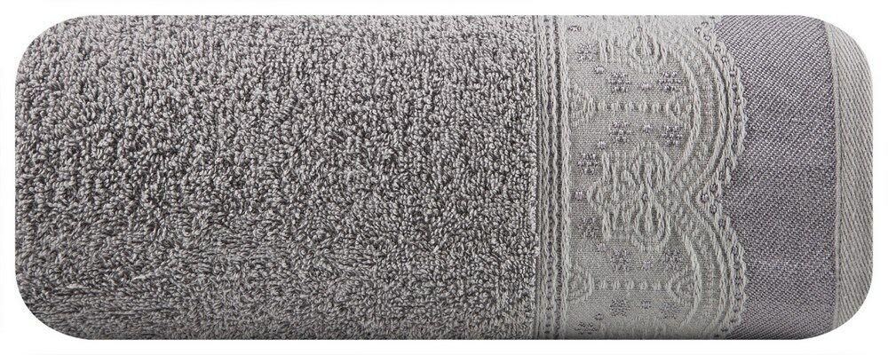 Ręcznik Tina 50x90 06 grafitowy frotte 450g/m2 Eurofirany