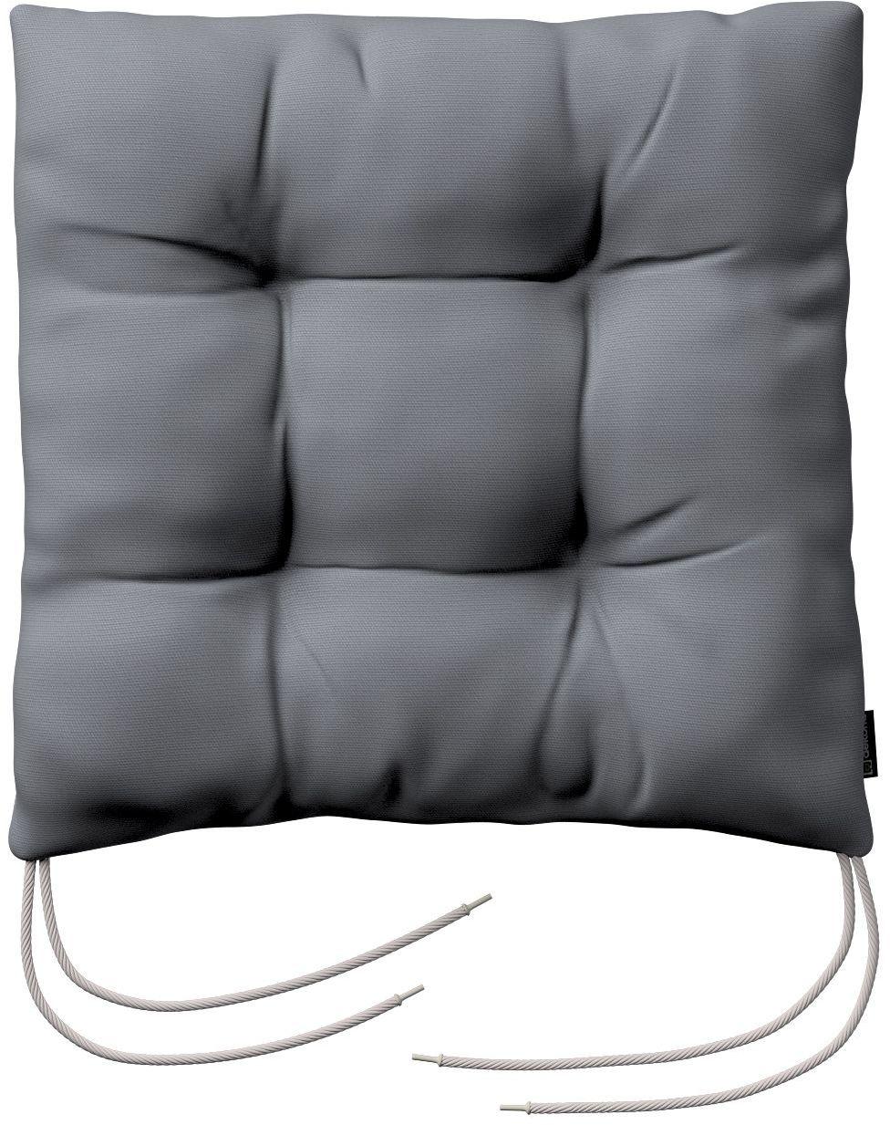 Siedzisko Jacek na krzesło, Slade Grey (szary), 38  38  8 cm, Cotton Panama