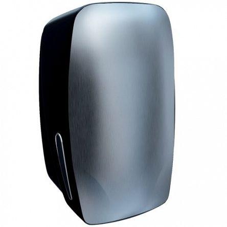 Pojemnik na papier toaletowy w listkach Merida MERCURY stal matowa i plastik czarny