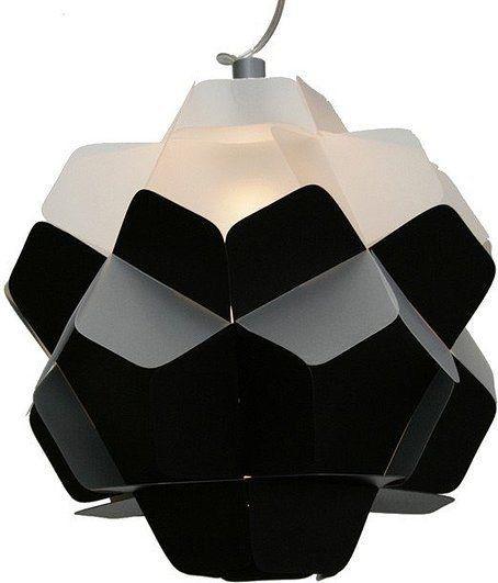 Lampa berga czarno-mleczna