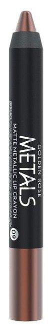 Golden Rose Metals Matte Lip Crayon Metaliczna Matowa pomadka 09