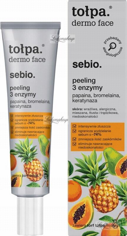 Tołpa - Dermo Face Sebio - Peeling do twarzy z 3 enzymami - 40 ml