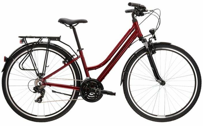 """Rower Kross TRANS 1.0 D rubinowy 28"""" 2022"""