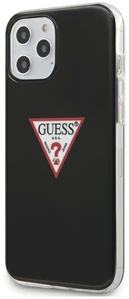 Guess GUHCP12MPCUCTLBK iPhone 12 Pro / iPhone 12 czarny/black hardcase Triangle Collection