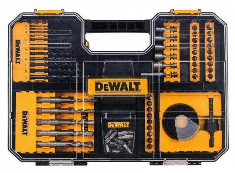 Zestaw bitów, nasadek, wierteł. Dewalt DT71583