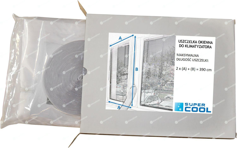 Uszczelka okienna do klimatyzatorów przenośnych Fral (do dwóch rur) - długość 3,9m