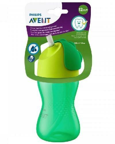 Avent Philips zielony kubek z giętką słomką 300 ml dla dzieci 12m+ [SCF798/01]
