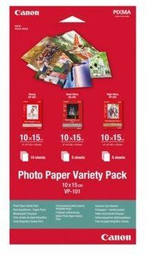 Papier fotograficzny CANON Variety Pack VP-101 - 3x 10x15 (0775B078)