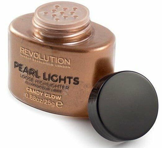 Makeup Revolution Pearl Lights Loose Highlighter Puder rozświetalający CANDY GLOW 25g - Candy Glow
