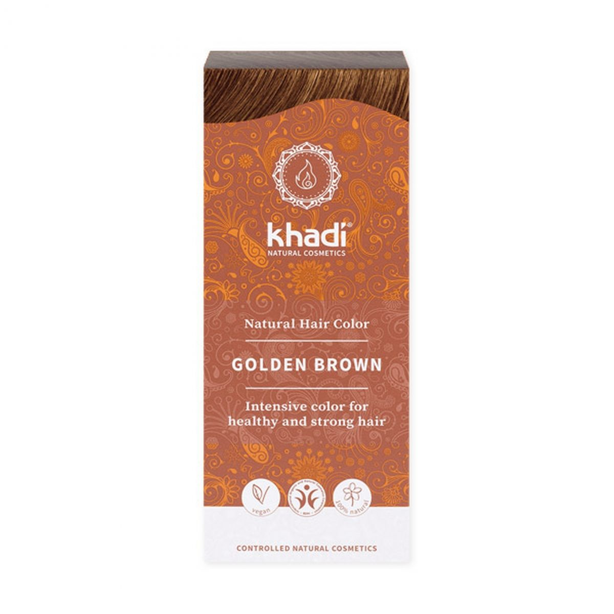 Naturalna indyjska henna - Złoty Brąz - 100g - Khadi