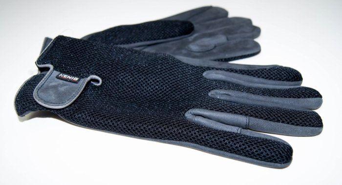 Rękawiczki KENIG z licowej skóry jagnięcej z siatką