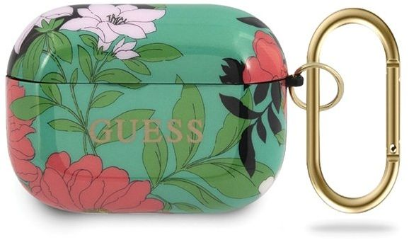 Guess GUACAPTPUBKFL01 AirPods Pro cover zielony/green N.1 Flower Collection