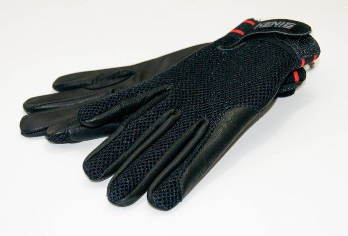 Rękawiczki letnie skórzano-siatkowe elastycznym ściągaczem - KENIG