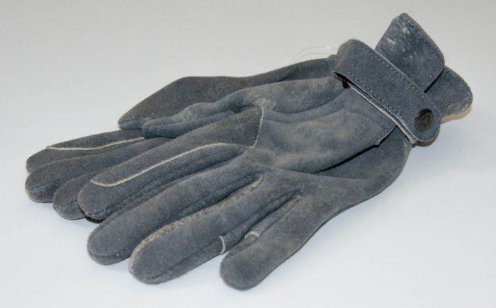 Rękawiczki skóra sarnia szary melanż- KENIG