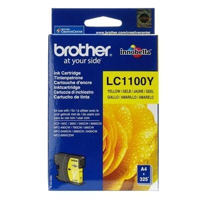 Tusz Oryginalny Brother LC-1100 Y (LC1100Y) (Żółty) - DARMOWA DOSTAWA w 24h