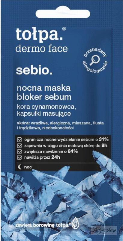 Tołpa - Dermo Face Sebio - Nocna maska bloker sebum - 8 ml