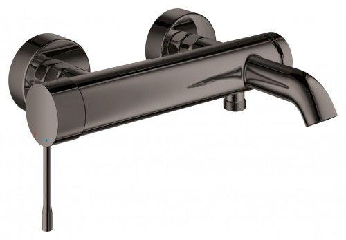 GROHE Essence New Bateria wannowa ścienna jednouchwytowa Hard graphite 33624A01