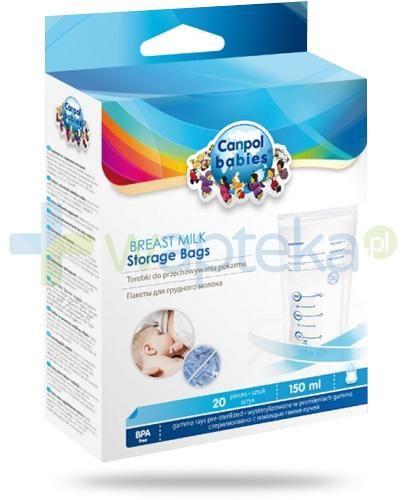 Canpol Babies torebki do przechowywania pokarmu 20 sztuk [70/001]
