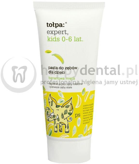 TOŁPA Expert Kids pasta 0-6 lat 50ml - pasta do zębów mlecznych o smaku bananowym