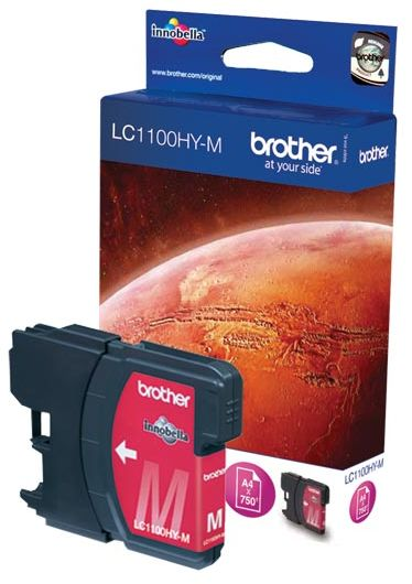 Tusz Oryginalny Brother DCP-6690CW MFC-5890CN MFC-5895CW MFC-6490CW LC1100HY-M Magenta