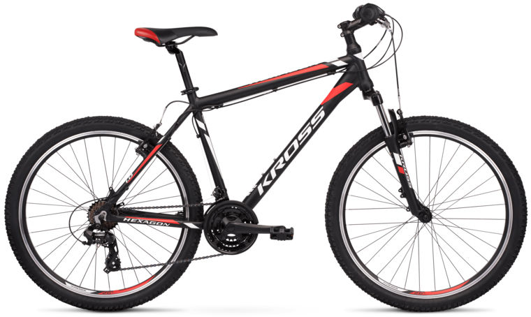 """Rower Kross HEXAGON 1.0 czarno-czerwony 26""""..."""