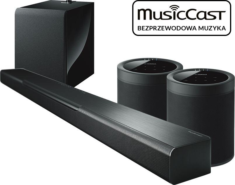 MusicCast BAR 40 (czarny) + MusicCast SUB 100 (czarny) + 2x MusicCast 20 (czarny)  SALONY FIRMOWE W 12 MIASTACH  25 LAT NA RYNKU  DOSTAWA 0 zł  ODBIÓR OSOBISTY