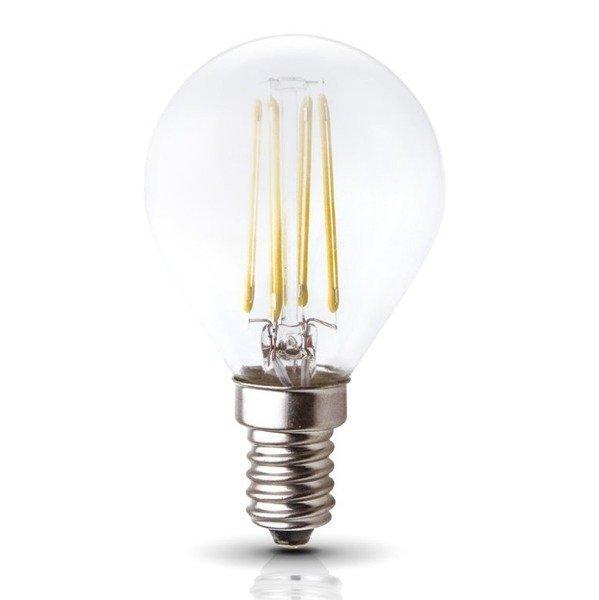 Żarówka FILAMENT LED E14 4W ciepła 3000K kulka G45