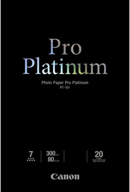 Papier CANON Pro Platinum PT-101 300 g/m2 - 10x15, 20 arkuszy (2768B013)