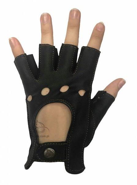 Rękawiczki bez palców ze skóry koziej - KENIG