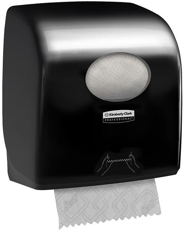 Pojemnik na ręczniki papierowe w rolce Kimberly Clark AQUARIUS plastik czarny