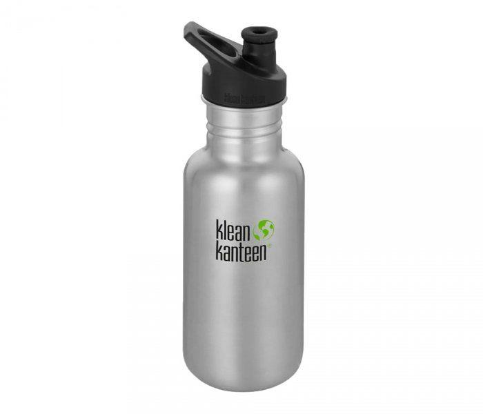 Butelka Klean Kanteen Classic z nakrętką Sport Cap 532 ml (brushed stainless) stalowy