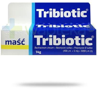 Tribiotic (400 j.m. + 5 mg + 5000 j.m.)/g maść 14 g