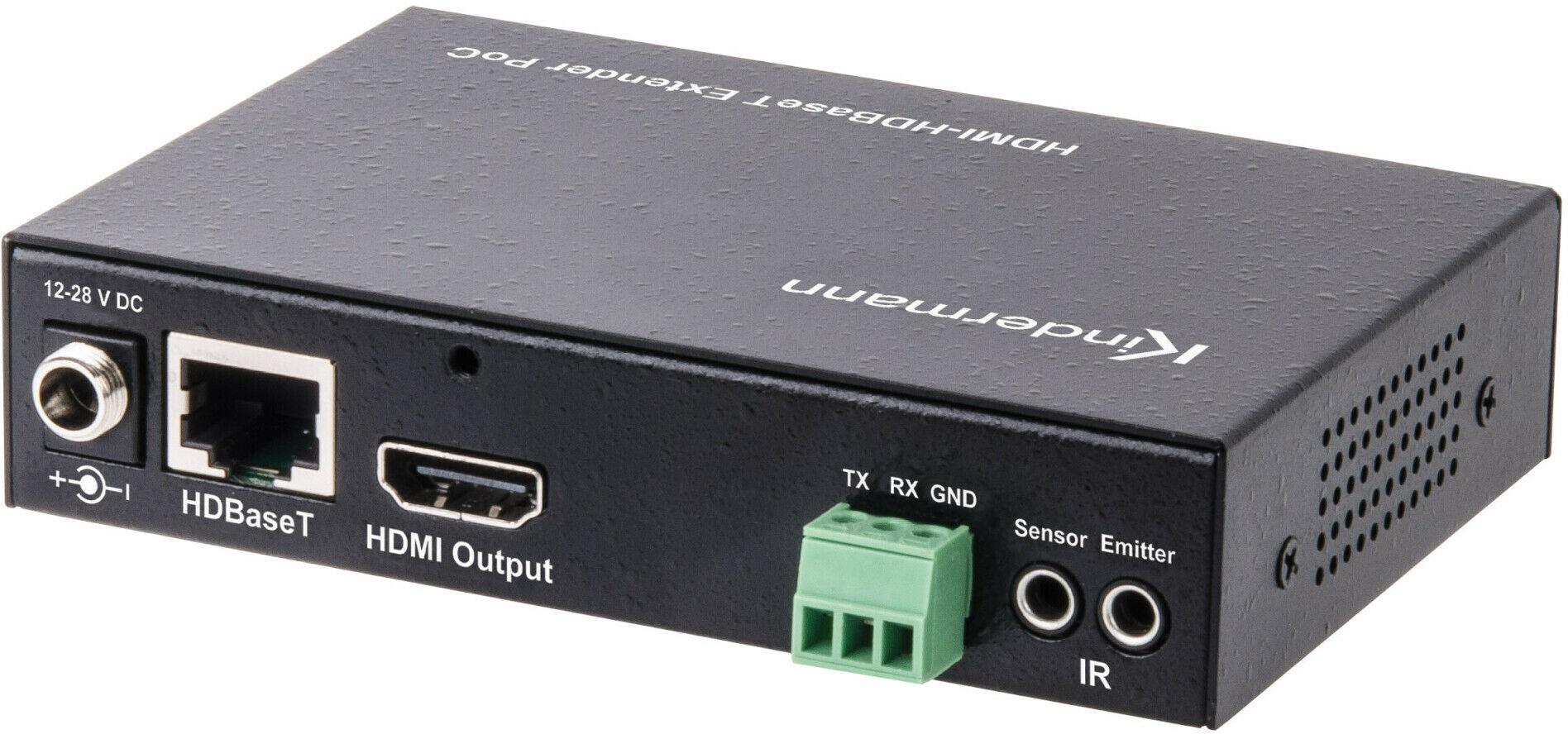 Kindermann HDMI-HDBT Przedłużacz PoC Odbiornik Kindermann HDMI-HDBT