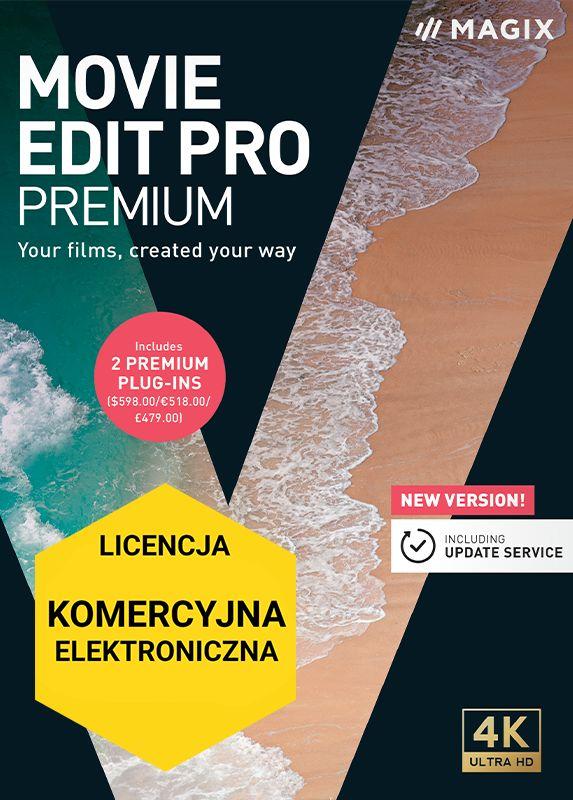MAGIX Movie Edit Pro Premium (2021) - ESD - cyfrowa - Edu i Gov - Certyfikaty Rzetelna Firma i Adobe Gold Reseller
