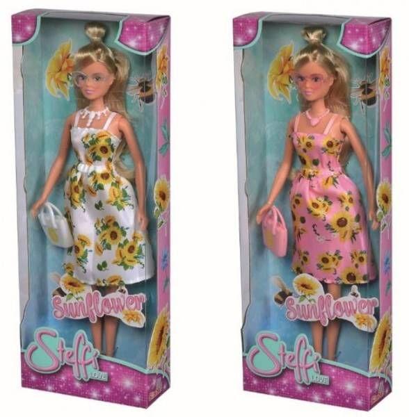 Steffi w słonecznikowej sukience mix - Simba