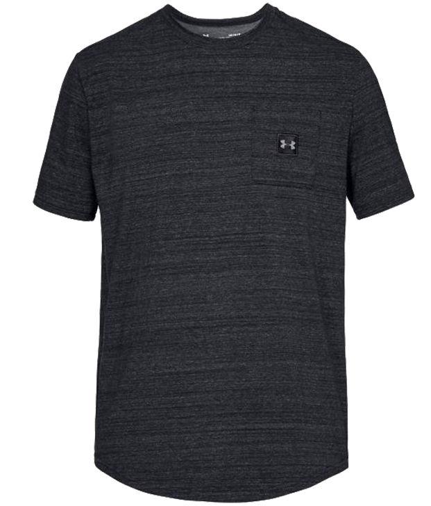 Koszulka termoaktywna Under Armour Sportstyle Pocket TEE Black (1320715-001)