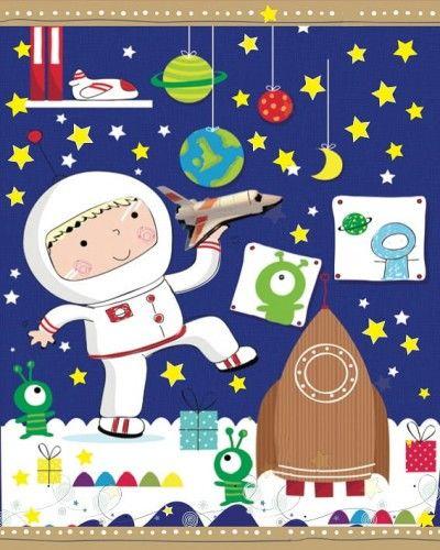 Torebka na prezent dla dziecka Kosmonauta rozm. M