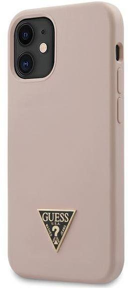 "Guess GUHCP12SLSTMLP iPhone 12 mini 5,4"" jasnoróżowy/light pink hardcase Silicone Triangle Logo"
