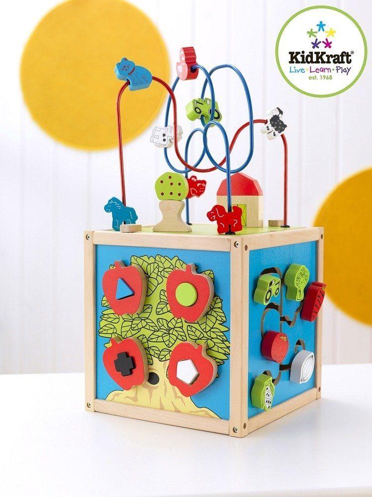 """Drewniana kostka edukacyjna """"Wiejski ogródek"""", KidKraft - zabawki edukacyjne"""