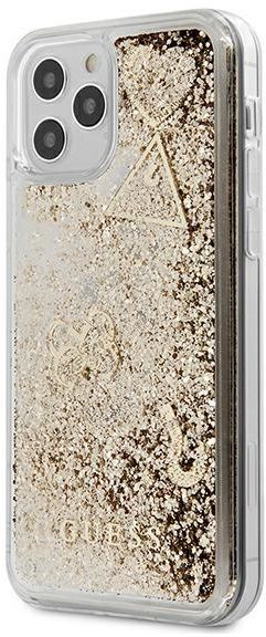 "Guess GUHCP12SGLHFLGO iPhone 12 Mini 5,4"" gold/złoty hardcase Glitter Charms Guess / GUE000880"