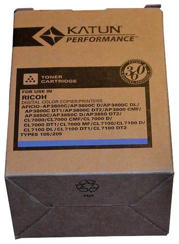 Wyprzedaż Toner Katun zamiennik Ricoh Type 105 205 885409 do Ricoh Aficio AP3800C AP3850C CL7000 CL7100 10 000 str. cyan
