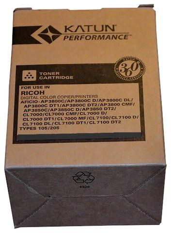 Wyprzedaż Toner Katun zamiennik Ricoh Type 105 205 885406 do Ricoh Aficio AP3800C AP3850C CL7000 CL7100 10 000 str. czarny black