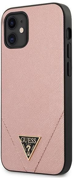 "Guess GUHCP12SVSATMLPI iPhone 12 5,4"" różowy/pink hardcase Saffiano Guess / GUE000835"