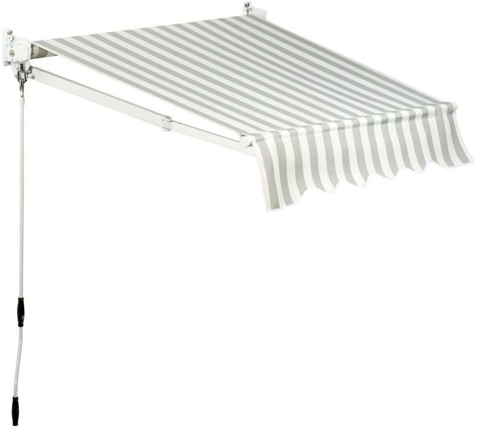 Markiza tarasowa Biało-szara 3 x 2 m
