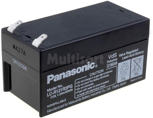 Akumulator kwasowo-ołowiowy PANASONIC 12V 1,3Ah żywotność 6-9 lat